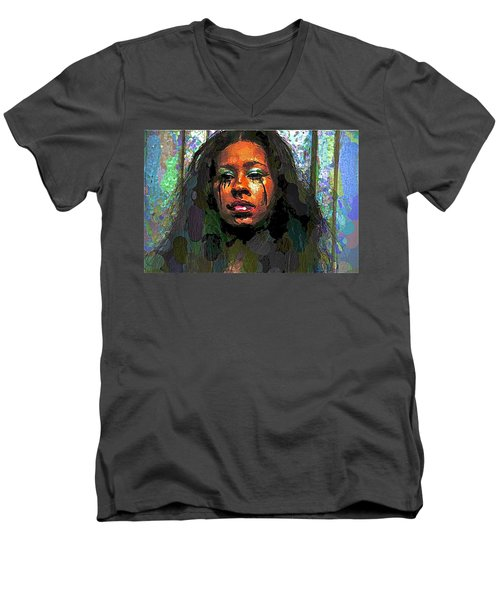 Men's V-Neck T-Shirt featuring the photograph Jemai by Alice Gipson