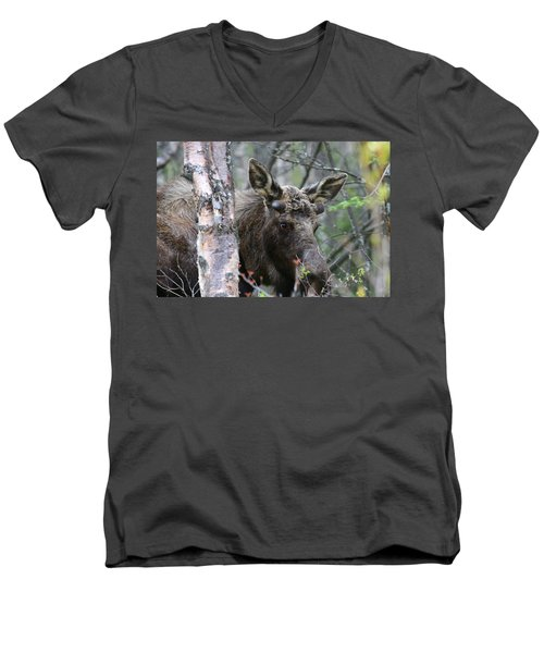 Men's V-Neck T-Shirt featuring the photograph Just A Start by Doug Lloyd