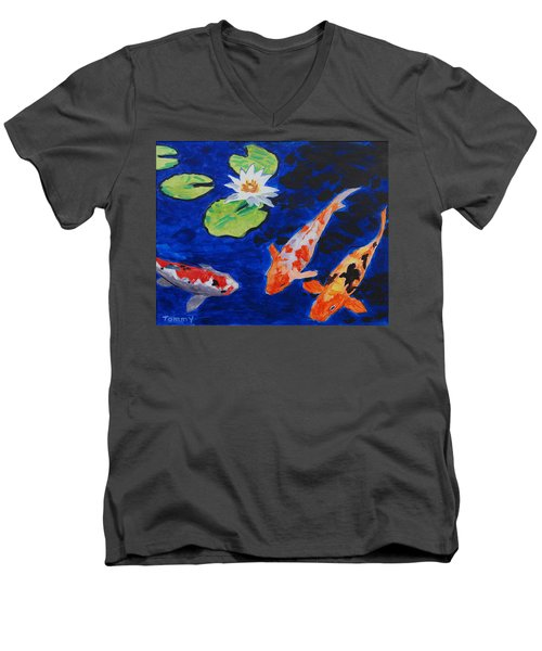 Just Being Koi Men's V-Neck T-Shirt