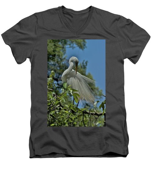Men's V-Neck T-Shirt featuring the photograph Just So by Joseph Yarbrough