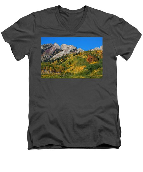Men's V-Neck T-Shirt featuring the photograph Kebler Pass by Jim Garrison