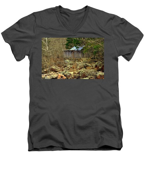 Men's V-Neck T-Shirt featuring the photograph Klepzig Mill by Marty Koch