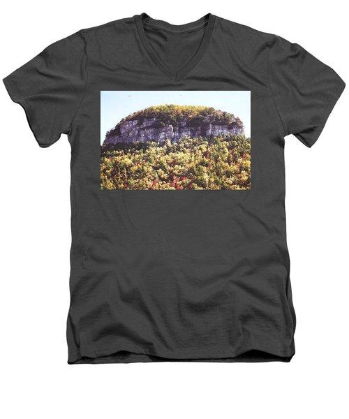 Knob Mountain Men's V-Neck T-Shirt