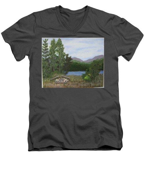 Kootenay Lake Bc Men's V-Neck T-Shirt