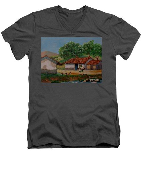 La Dama Del Rio Men's V-Neck T-Shirt