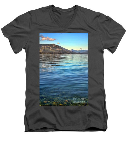 Lake Cowichan Bc Men's V-Neck T-Shirt