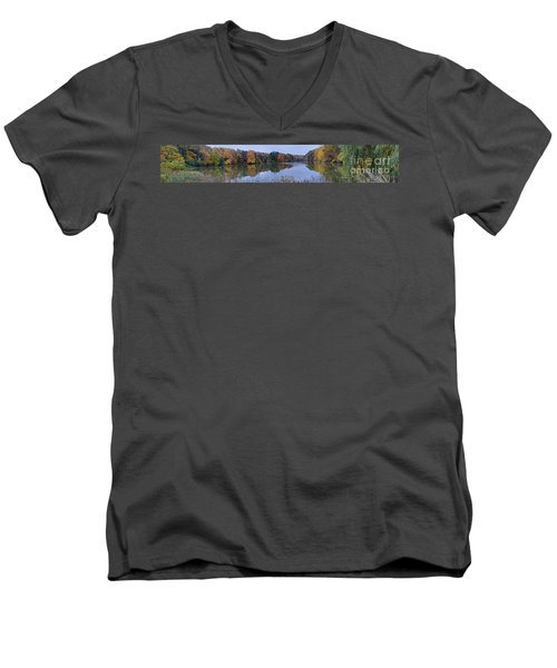 Men's V-Neck T-Shirt featuring the photograph Lake Eastman by William Norton