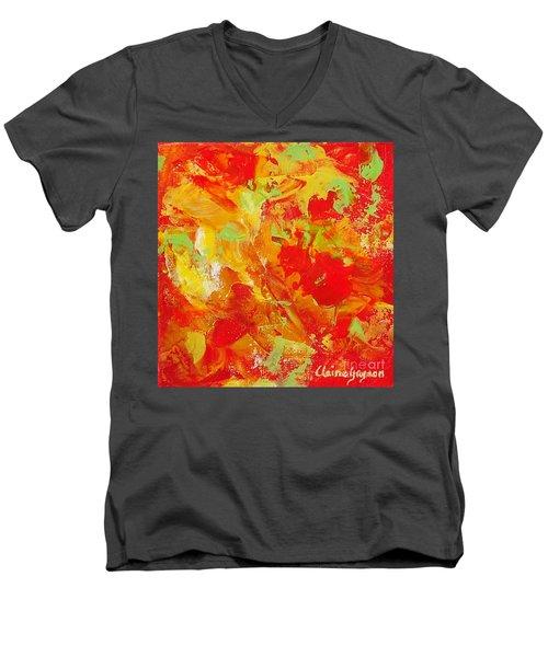 Latin Rythym Men's V-Neck T-Shirt