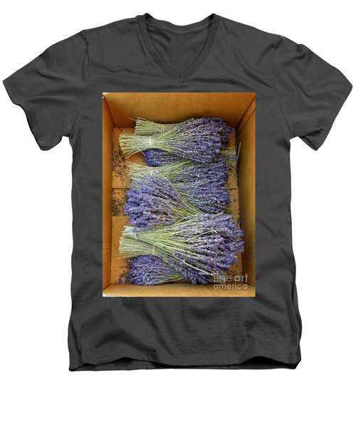 Lavender Bundles Men's V-Neck T-Shirt by Lainie Wrightson