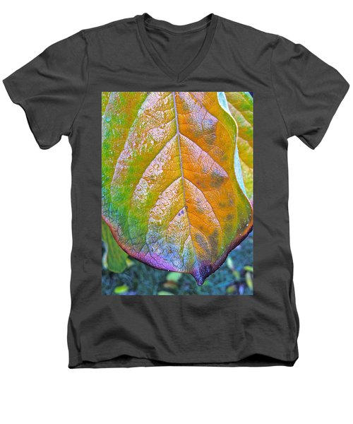 Men's V-Neck T-Shirt featuring the photograph Leaf by Bill Owen