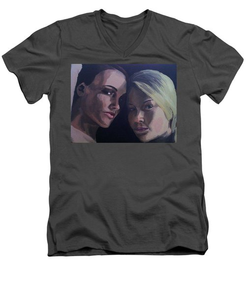 Leah And Tiffany Men's V-Neck T-Shirt