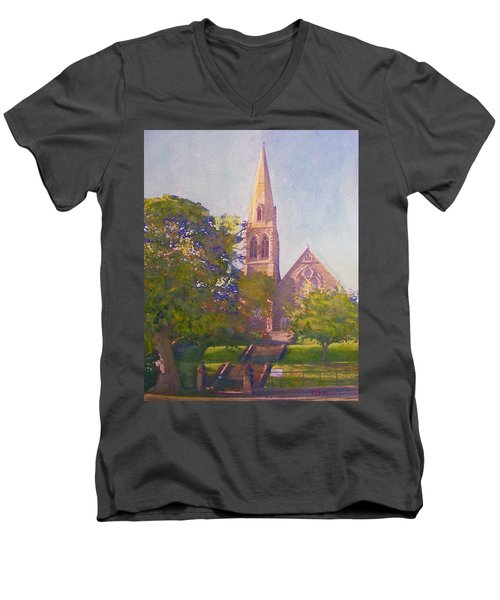 Leckie Memorial  Church  Peebles Scotland Men's V-Neck T-Shirt