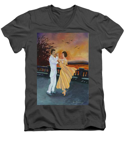 Let's Dance Men's V-Neck T-Shirt