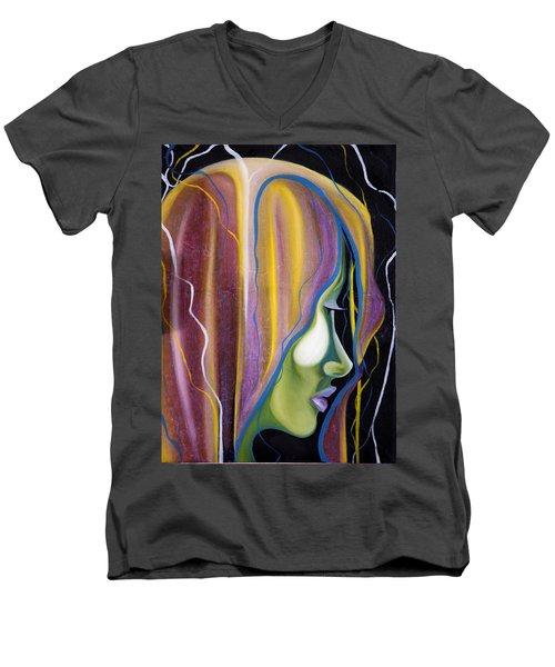 Lights II Men's V-Neck T-Shirt by Sheridan Furrer