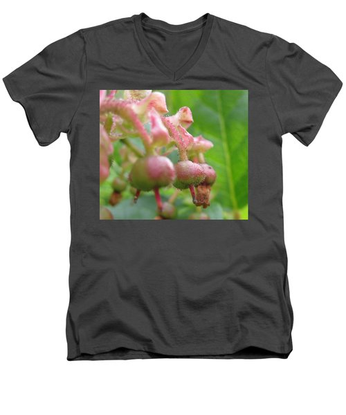 Men's V-Neck T-Shirt featuring the photograph Lilly Of The Valley Close Up by Kym Backland