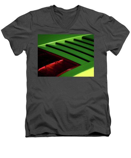 Lime Light Men's V-Neck T-Shirt by Douglas Pittman
