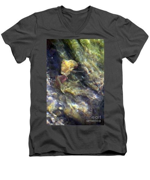 Liquid Leaves 2 Men's V-Neck T-Shirt