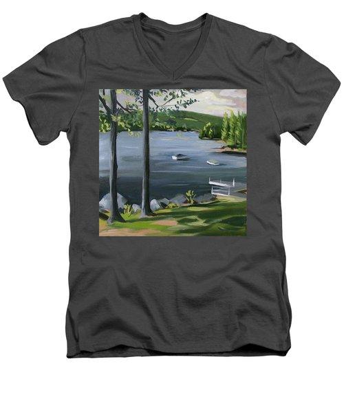 Little Squam In June Men's V-Neck T-Shirt