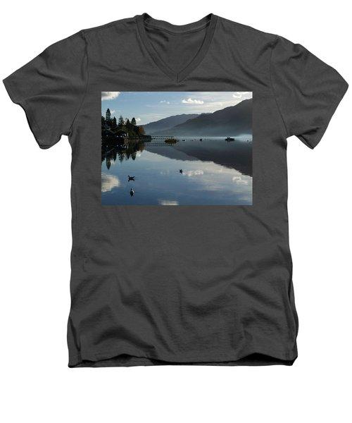 Men's V-Neck T-Shirt featuring the photograph Lochgoilhead by Lynn Bolt