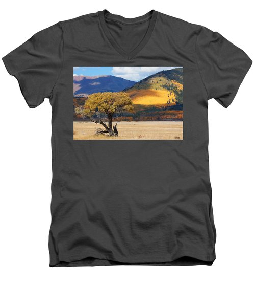 Men's V-Neck T-Shirt featuring the photograph Lone Tree by Jim Garrison