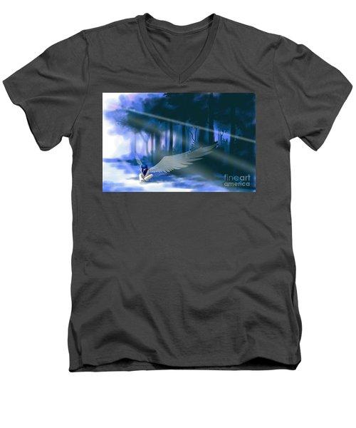 Looking For Light Men's V-Neck T-Shirt