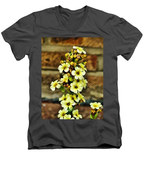 Men's V-Neck T-Shirt featuring the digital art Looking Good by Steve Taylor
