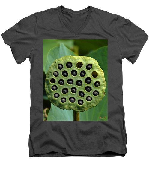 Lotus Capsule-missing Children Dl054 Men's V-Neck T-Shirt