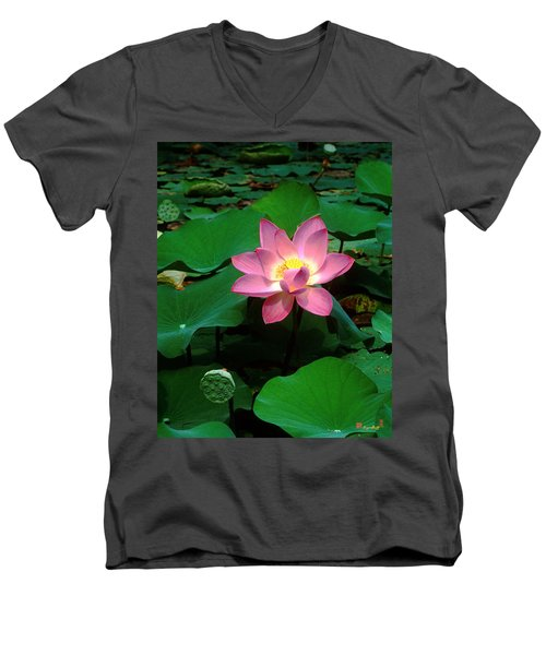 Lotus Flower And Capsule 24a Men's V-Neck T-Shirt