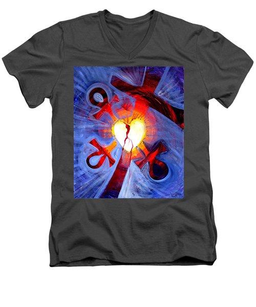 Love - In Three ... For All Men's V-Neck T-Shirt