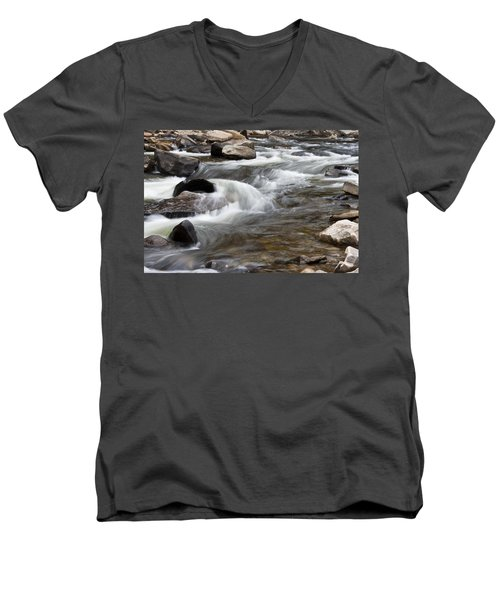 Loyalsock Creek Gentle Rapids Men's V-Neck T-Shirt