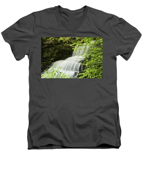 Loyalsock Waterfall Men's V-Neck T-Shirt