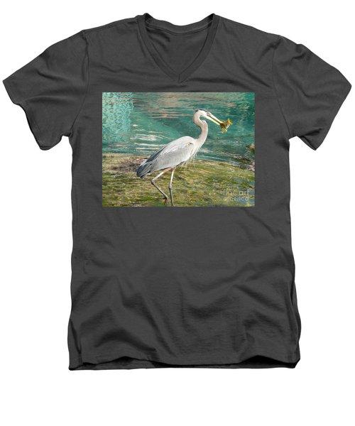 Lunchtime Men's V-Neck T-Shirt by Laurel Best