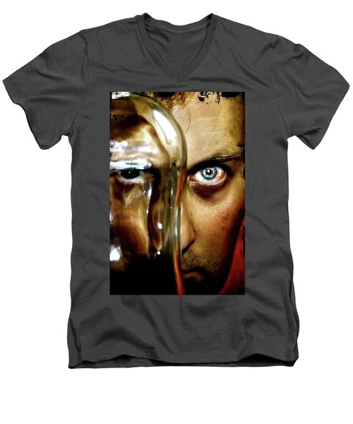 Men's V-Neck T-Shirt featuring the photograph Mad Man by Pedro Cardona