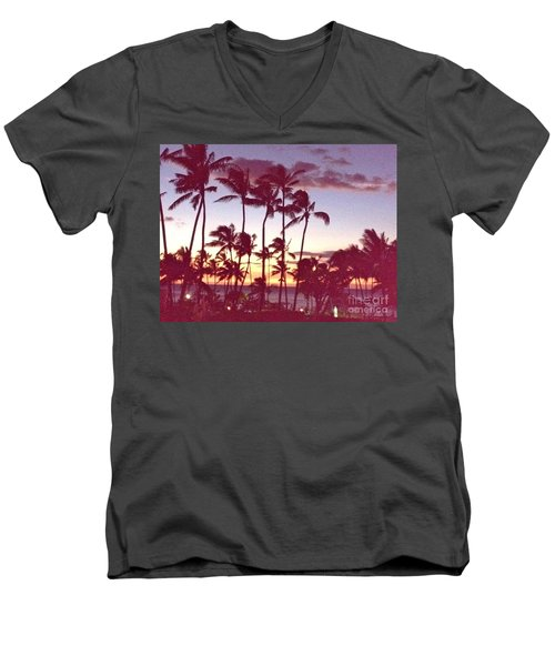 Men's V-Neck T-Shirt featuring the photograph Mahalo For This Day by Beth Saffer
