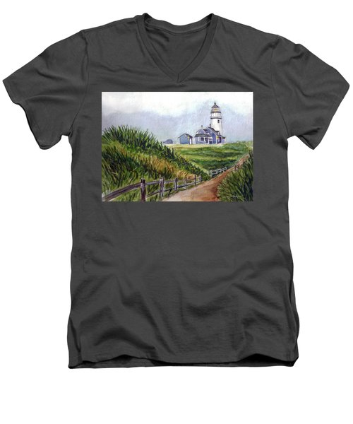 Maine Light Men's V-Neck T-Shirt