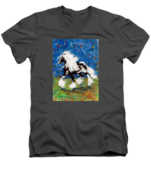 Majestic One Men's V-Neck T-Shirt by Mary Armstrong