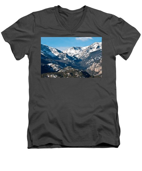 Men's V-Neck T-Shirt featuring the photograph Majestic Rockies by Colleen Coccia