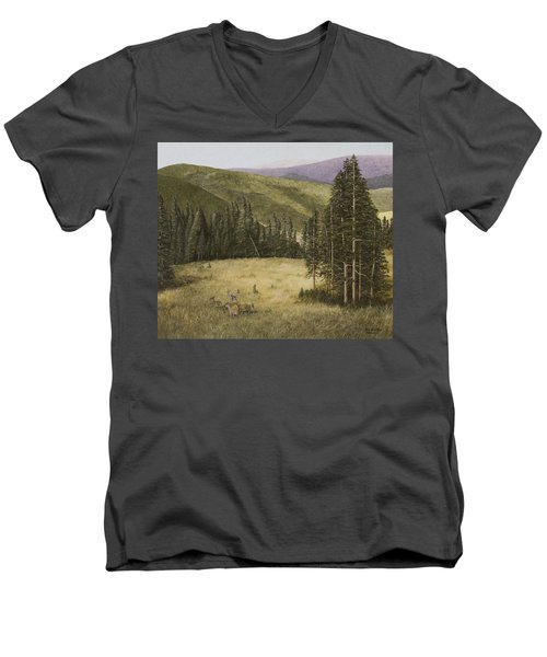 Majesty In The Rockies Men's V-Neck T-Shirt