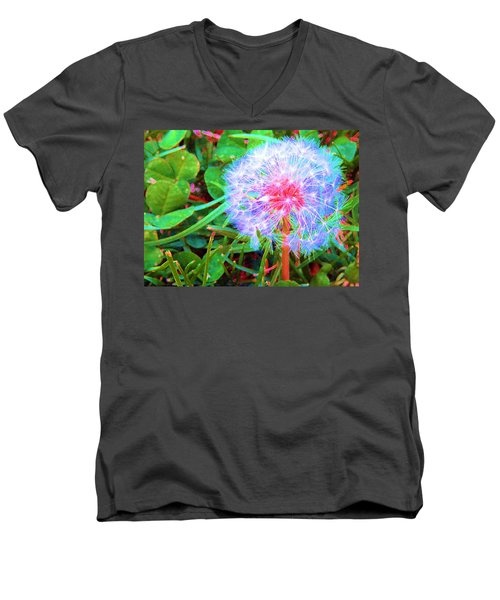 Men's V-Neck T-Shirt featuring the photograph Make A Wish by Susan Carella