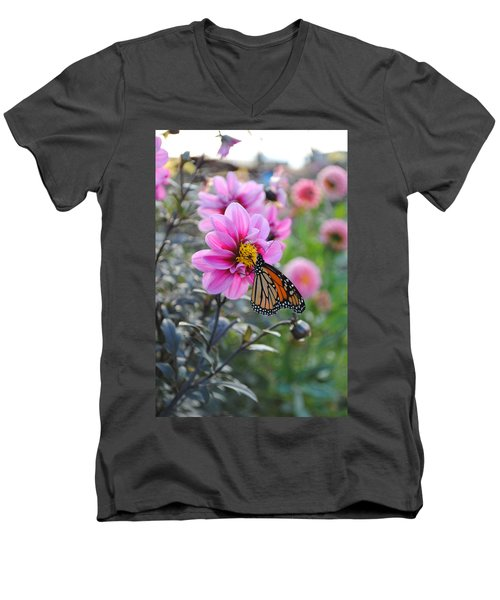 Men's V-Neck T-Shirt featuring the photograph Making Things New by Michael Frank Jr