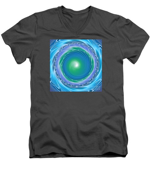 Mandala Spin Men's V-Neck T-Shirt