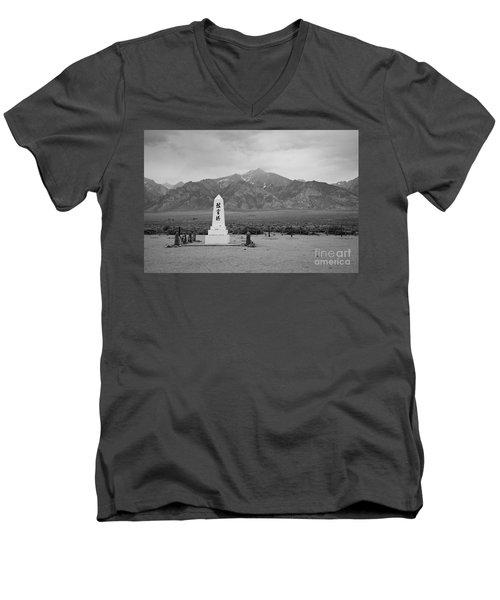 Manzanar Memorial Men's V-Neck T-Shirt