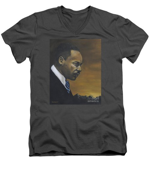 Martin Luther King Jr - From The Mountaintop Men's V-Neck T-Shirt