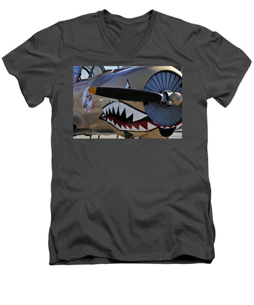 Mean Machine Men's V-Neck T-Shirt by David Lee Thompson