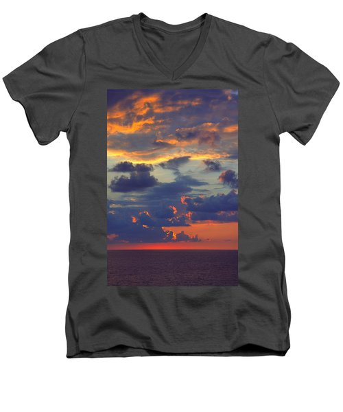 Mediterranean Sky Men's V-Neck T-Shirt