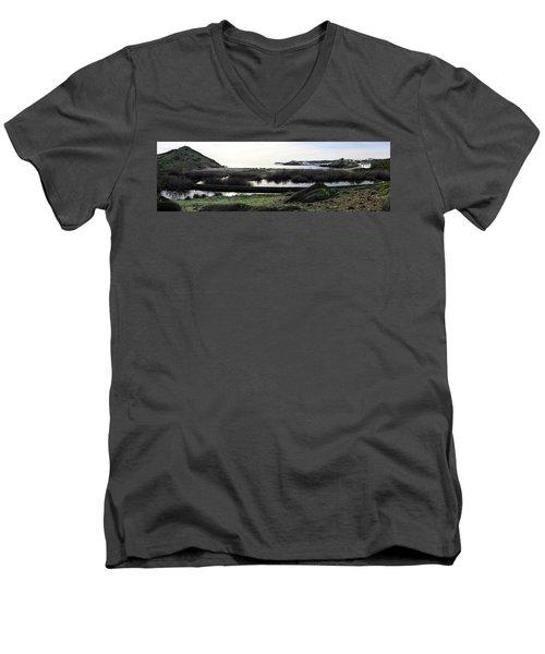 Men's V-Neck T-Shirt featuring the photograph Mediterranean View by Pedro Cardona