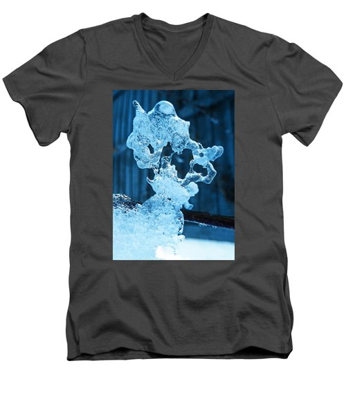 Men's V-Neck T-Shirt featuring the photograph Meet The Ice Sculpture by Steve Taylor