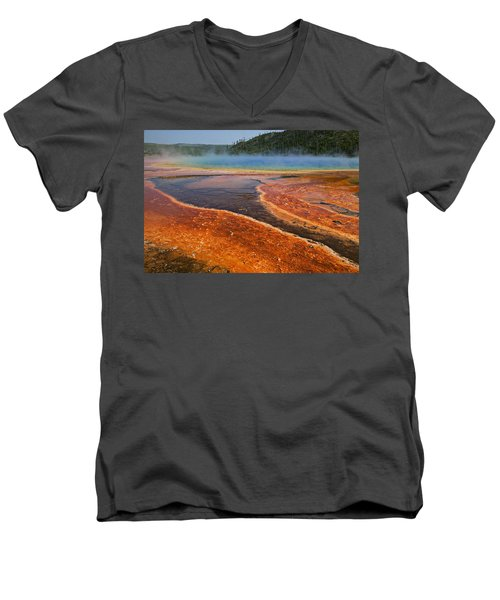 Middle Hot Springs Yellowstone Men's V-Neck T-Shirt