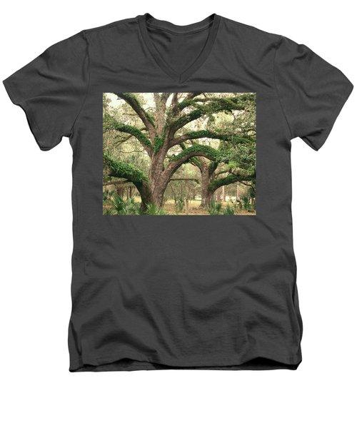 Mighty Oaks Men's V-Neck T-Shirt