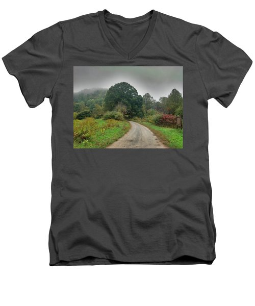 Men's V-Neck T-Shirt featuring the photograph Mills Ridge by Janice Spivey